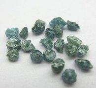 יהלום גלם כחול ירוק לליטוש ושיבוץ 0.10 קרט