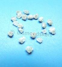 יהלום גלם לבן לליטוש ושיבוץ 0.10 קרט