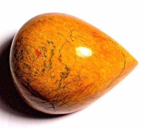 """ספיר צהוב מלוטש לשיבוץ (אפרניסטן) תעודה 435 קרט מידות: 33.02*40.42*51.40 מ""""מ"""