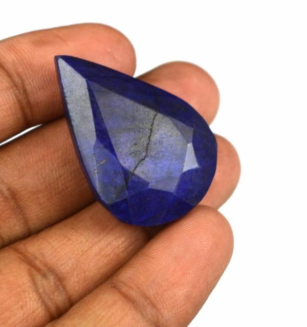 """ספיר כחול מלוטש לשיבוץ 67 קרט מידות: 11*24*35 מ""""מ"""
