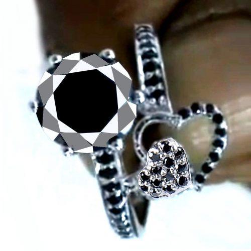 טבעת כסף 925 בשיבוץ מואסניט 3.51 קרט הטבעת: מידה 8