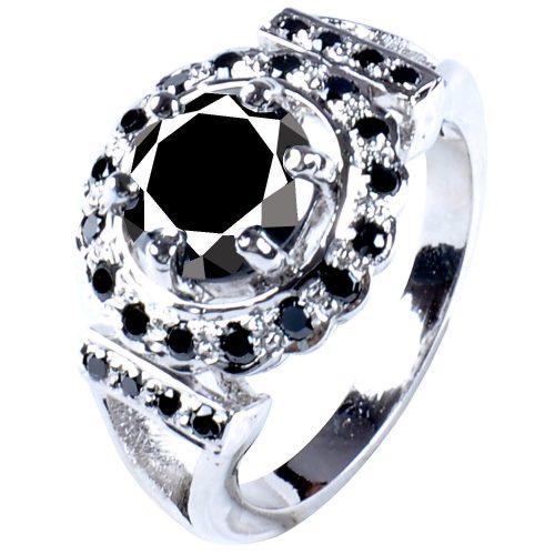 טבעת כסף 925 בשיבוץ אבני מואסנייט הטבעת: 4.55 קרט עיצוב עגול מידה: 8