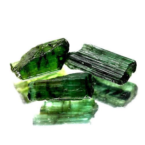 טורמלין ירוק גלם מוטות לליטוש 3 יחידות 6.22 קרט