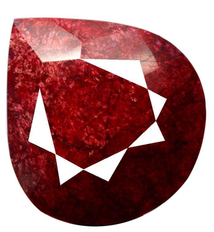 רובי Ruby נדיר… לאספנים רובי ענק איכותי מלוטש (אפריקה) 25800 קרט 5160 גרם