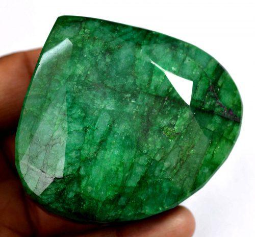 """אמרלד. איזמרגד, ברקת Emerald גדול איכותי 1082 קרט זמביה ליטוש טיפה מידה: 38*59*65 מ""""מ"""