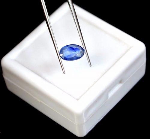 """ספיר Sapphire כחול מלוטש לשיבוץ - תעודה 1.25 קרט מידה: 2*5*8 מ""""מ"""