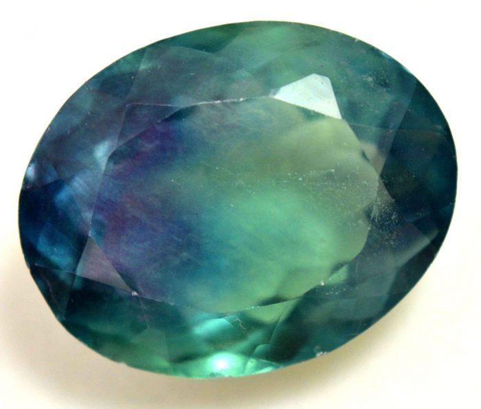 פלואוריט Fluorite ירוק סגול מלוטש לשיבוץ - תעודה 45.20 קרט (ברזיל)