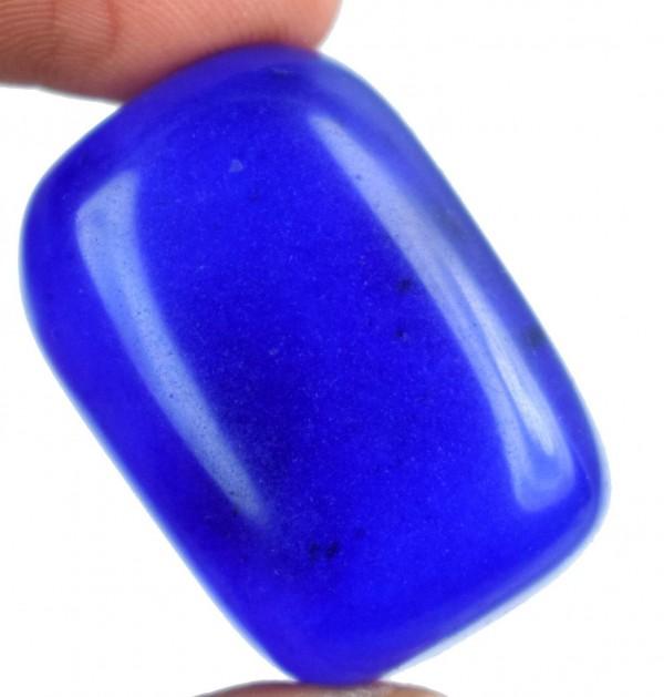 """ספיר Sapphire כחול מלוטש לשיבוץ (אפריקה) 129.50 קרט מידה: 16*23*33 מ""""מ"""