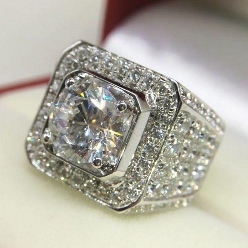 טבעת כסף 925 בשיבוץ טופז לבן מידה: 7