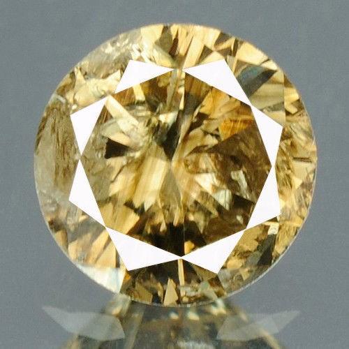 יהלום צהוב Natural diamond פנסי 0.18 קרט + תעודה ניקיון יהלום: I3