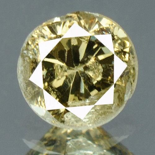 יהלום צהוב Natural diamond פנסי 0.19 קרט + תעודה ניקיון יהלום: I3