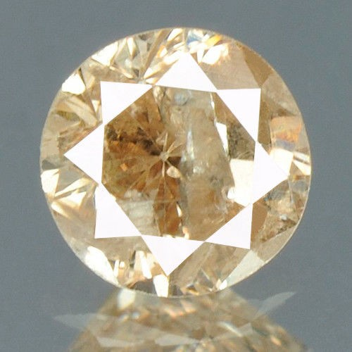 יהלום צהוב Natural diamond פנסי 0.18 קרט + תעודה ניקיון יהלום: I2