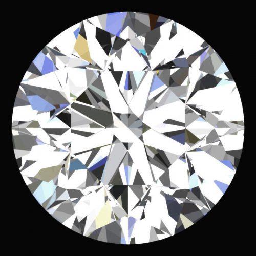 יהלום לבן עגול Natural diamond אפריקה תעודה משקל: 0.042 קרט ניקיון: VVS1-VVS2