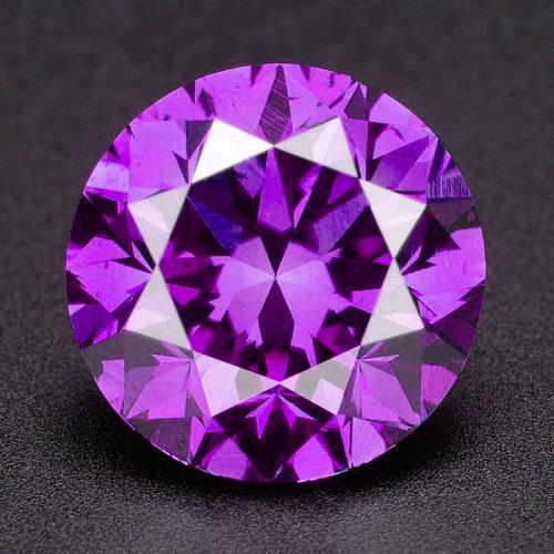 יהלום סגול פנסי עגול Natural diamond אפריקה - תעודה משקל: 0.041 קרט ניקיון: SI3-I1
