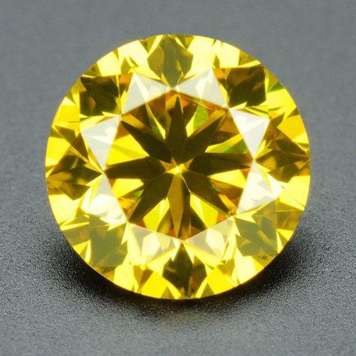 יהלום צהוב Natural diamond אפריקה - תעודה משקל: 0.073 קרט ניקיון יהלום: SI1-SI2