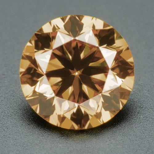 יהלום שמפניה Natural diamond אפריקה - תעודה 0.093 קרט ניקיון יהלום: SI1-SI2