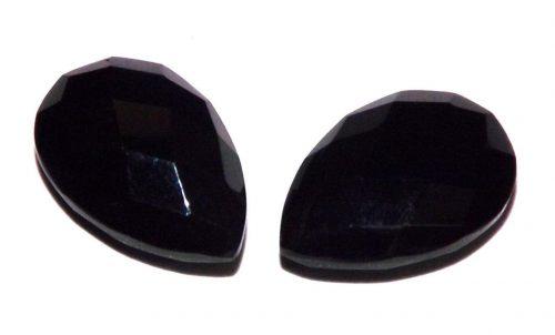 אוניקס שחור Onyx מלוטש לשיבוץ ליטוש רוז פסאט 4.85 קרט עיצוב טיפה
