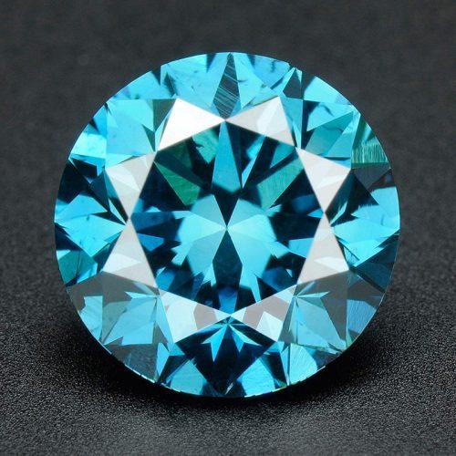 יהלום כחול Natural diamond עגול אפריקה - תעודה משקל: 0.043 קרט ניקיון: SI3-I1