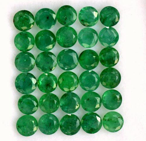"""אמרלד איזמרגד, ברקת Emerald מלוטש לשיבוץ (ברזיל) עגול בקוטר: 4 מ""""מ"""