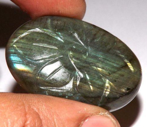 לברדורייט Labradorite מלוטש לשיבוץ חרוט עבודת יד במשקל: 13.70 קרט