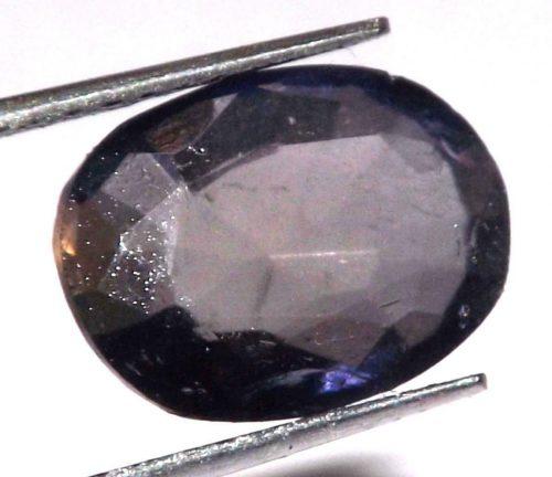 """איולייט iolite היילייטר מלוטש לשיבוץ (אפריקה) במשקל: 2.75 קרט מידה: 4*8*11 מ""""מ"""