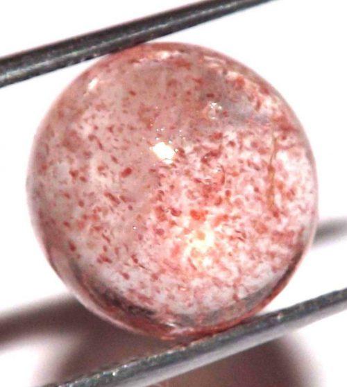 קוורץ תות ליפידוקרוסייט Quartz-crystal מלוטש לשיבוץ (אפריקה) במשקל: 3.45 קרט