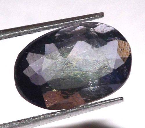 """איולייט iolite היילייטר מלוטש לשיבוץ (אפריקה) במשקל: 2.25 קרט מידה: 5*7*11 מ""""מ"""