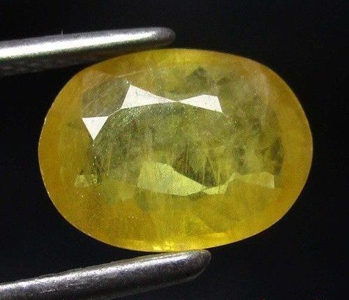 """ספיר צהוב מלוטש לשיבוץ (תאילנד) משקל: 1.43 קרט מידה: 3*6*8 מ""""מ"""