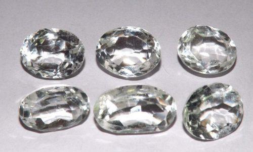 קוורץ קריסטל Quartz-crystal משקל: 36.25 קרט 6 יחידות