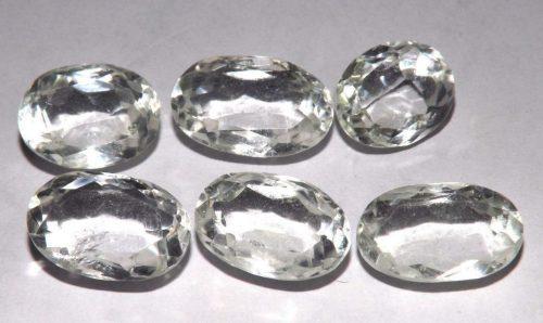 קוורץ קריסטל Quartz-crystal משקל: 37.95 קרט 6 יחידות