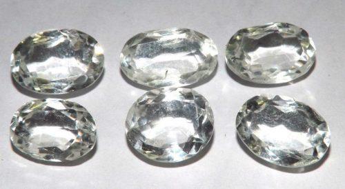 קוורץ קריסטל Quartz-crystal משקל: 35.45 קרט 6 יחידות