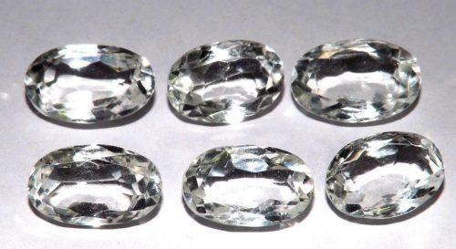 קוורץ קריסטל Quartz-crystal משקל: 38.40 קרט 6 יחידות