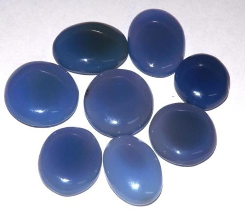 קלצידוני chalcedony כחול מלוטש לשיבוץ (אפריקה) ליטוש קבושון כ 13 קרט