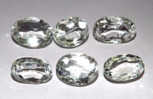 קוורץ קריסטל Quartz-crystal מלוטש לשיבוץ אפריקה 6 יחידות במשקל: 33.95 קרט