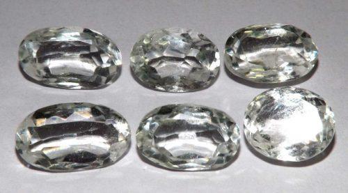 קוורץ קריסטל Quartz-crystal מלוטש לשיבוץ אפריקה 6 יחידות במשקל: 34.30 קרט