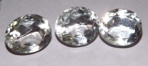 קוורץ קריסטל Quartz-crystal מלוטש לשיבוץ אפריקה 3 יחידות במשקל: 29.50 קרט