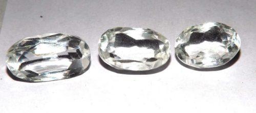 קוורץ קריסטל Quartz-crystal מלוטש לשיבוץ אפריקה 3 יחידות במשקל: 30.80 קרט