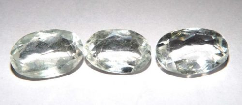 קוורץ קריסטל Quartz-crystal מלוטש לשיבוץ אפריקה 3 יחידות במשקל: 37.70 קרט