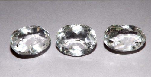 קוורץ קריסטל Quartz-crystal מלוטש לשיבוץ אפריקה 3 יחידות במשקל: 21.90 קרט