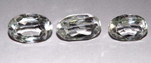 קוורץ קריסטל Quartz-crystal מלוטש לשיבוץ אפריקה 3 יחידות במשקל: 21.19 קרט