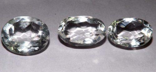 קוורץ קריסטל Quartz-crystal מלוטש לשיבוץ אפריקה 3 יחידות במשקל: 29.45 קרט