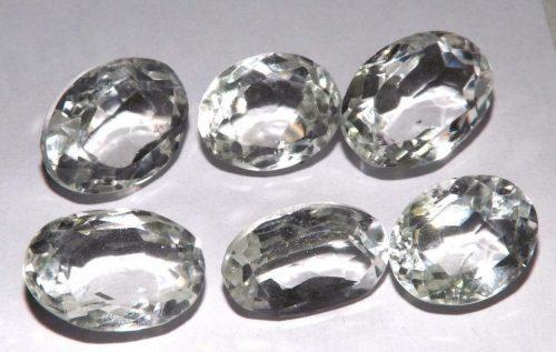 קוורץ קריסטל Quartz-crystal מלוטש לשיבוץ אפריקה 6 יחידות במשקל: 36.35 קרט