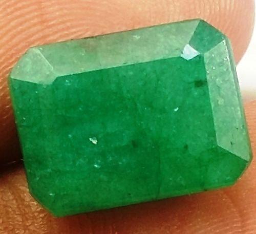 אמרלד איזמרגד, ברקת Emerald מלוטש לשיבוץ קולומביה + תעודה משקל: 5.78 קרט