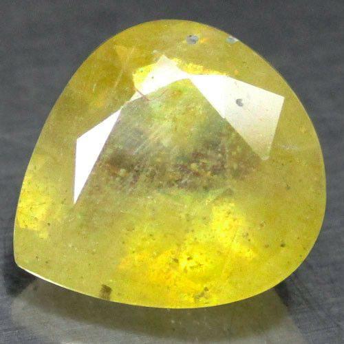 ספיר צהוב Sapphire מלוטש לשיבוץ אפריקה ליטוש פאסט טיפה במשקל: 2.94 קרט