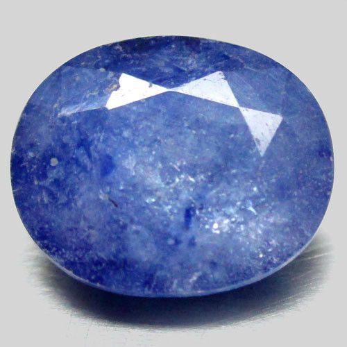 ספיר כחול Sapphire מלוטש לשיבוץ אפריקה במשקל: 2.42 קרט