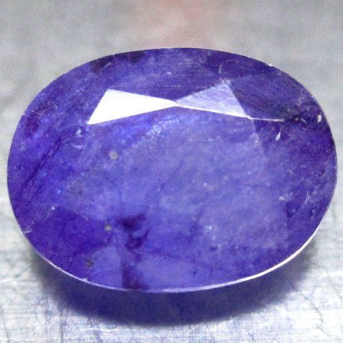 ספיר כחול סגול Sapphire מלוטש לשיבוץ אפריקה במשקל: 2.68 קרט