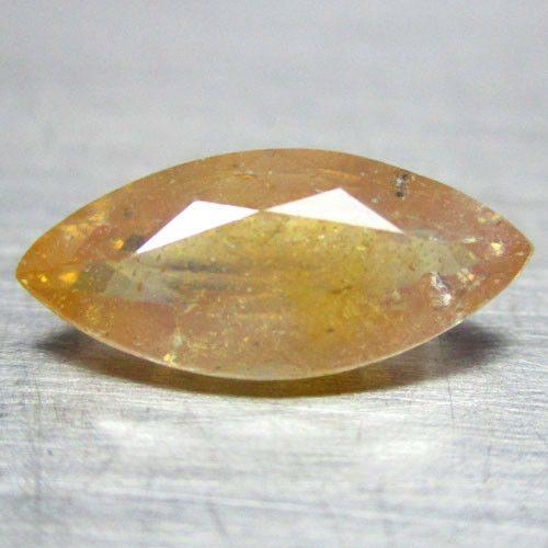 ספיר צהוב כתום Sapphire מלוטש לשיבוץ ליטוש מרקיזה אפריקה במשקל: 1.87 קרט