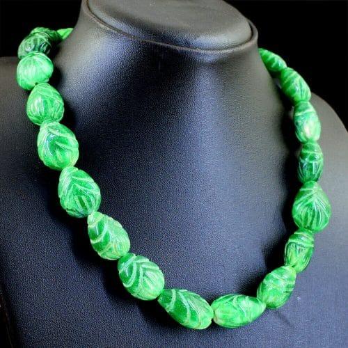 שרשרת אמרלד איזמרגד ברקת Emerald במשקל: 590 קרט סוגר: רקמה קצר \ ארוך