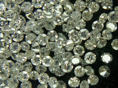 """50 יהלומים Natural diamond לשיבוץ ליטוש עגול בקוטר: 0.70 מ""""מ ניקיון: i צבע: f"""
