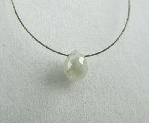 יהלום פנסי סגלגל Natural diamond טיפה מלוטש לשיבוץ משקל: 0.12 קרט ניקיון: i3